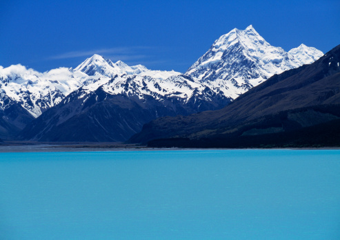 Mt Cook「Lake near mountain range」:スマホ壁紙(13)