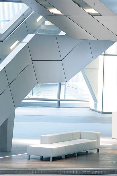 Stairs in Modern Interior, Illuminated Staircase and Sofa:スマホ壁紙(壁紙.com)