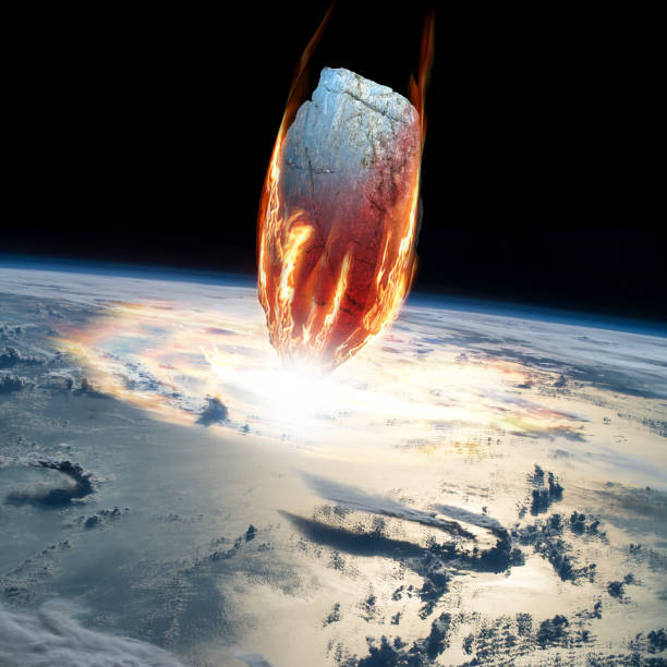 A massive asteroid enters Earths atmosphere and impacts the planet.:スマホ壁紙(壁紙.com)