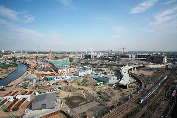 Horizon「Olympic Aquatics Centre under construction, Stratford, London, UK, August 2009, looking North-West」:写真・画像(3)[壁紙.com]