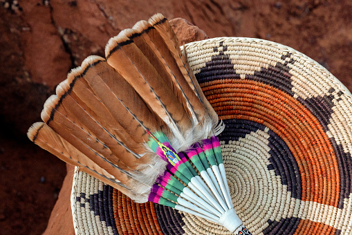 Indigenous Culture「Navajo Wedding Basket stock photo」:スマホ壁紙(1)