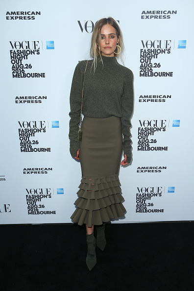 Green Color「Vogue American Express Fashion's Night Out - Melbourne」:写真・画像(11)[壁紙.com]