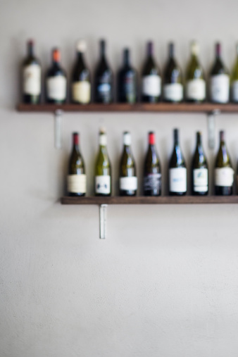 Wine Bottle「Rows of bottles of wine with room for text」:スマホ壁紙(19)