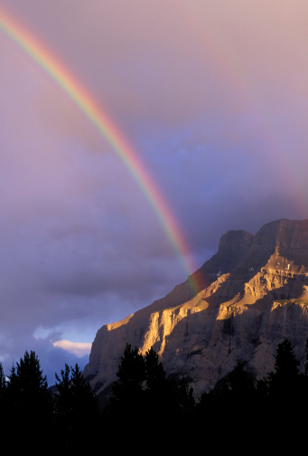 Double Rainbow「rainbow mount rundle banff national park alberta」:スマホ壁紙(9)