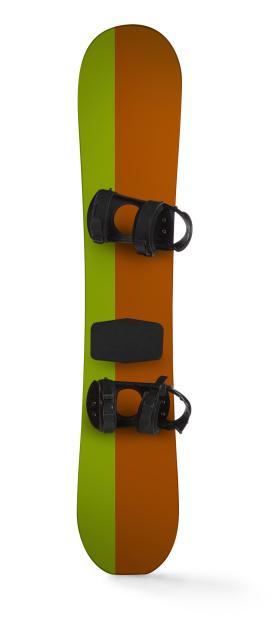 スノーボード板「スノーボードの白い背景に」:スマホ壁紙(1)