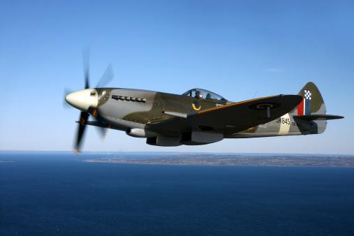 World War II「Angelholm, Sweden - Supermarine Spitfire Mk. XVIII fighter warbird.」:スマホ壁紙(0)