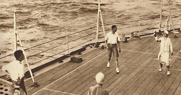 Boat Deck「Partners - A Game Of Deck Tennis In The Renown」:写真・画像(4)[壁紙.com]
