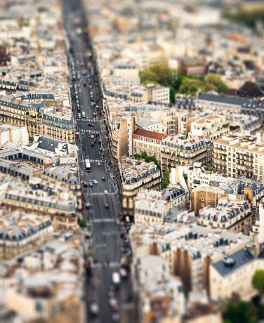 Tilt-Shift「Tilt-shift view over Paris streets」:スマホ壁紙(14)