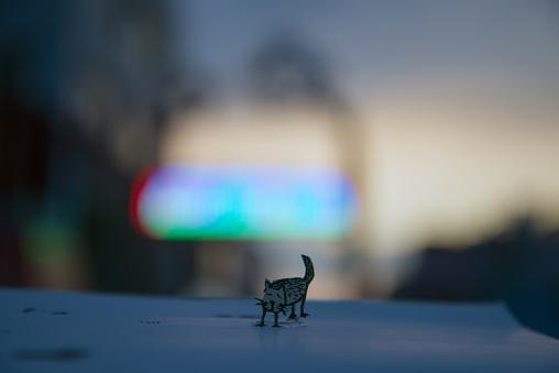 Paper Craft「Lonely cat」:スマホ壁紙(13)