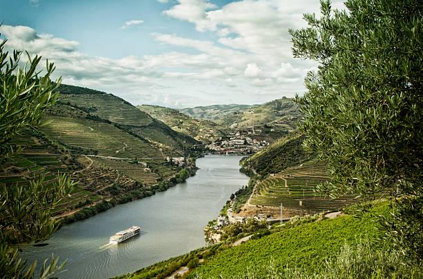 Cruise ship on the upper Douro River:スマホ壁紙(壁紙.com)