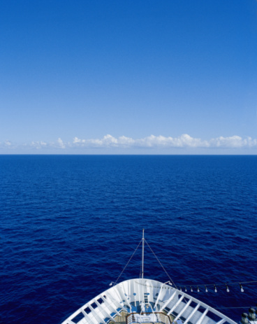 Cruise - Vacation「Cruise ship's bow and open sea, elevated view, Caribbean」:スマホ壁紙(7)
