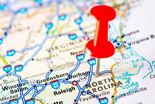 North Carolina - US State「USA states on map: North Carolina」:スマホ壁紙(0)