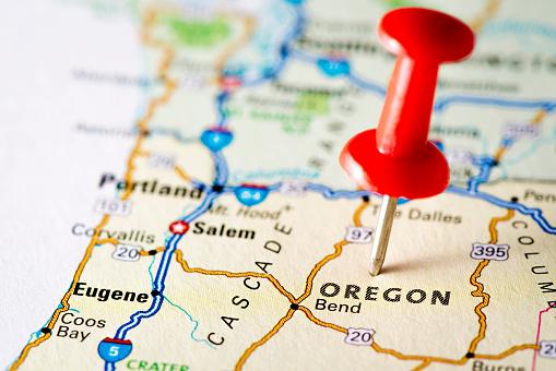 Oregon - US State「USA states on map: Oregon」:スマホ壁紙(0)