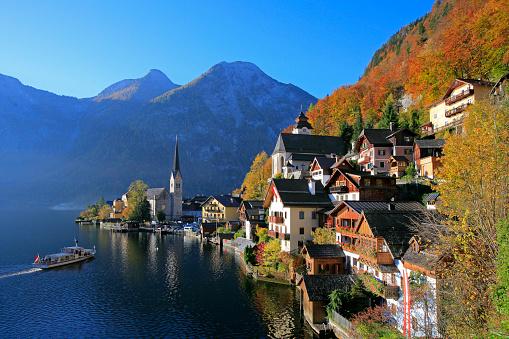 Salzkammergut「Village of Hallstatt in Austria」:スマホ壁紙(5)