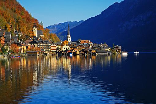 Salzkammergut「Village of Hallstatt in Austria」:スマホ壁紙(16)