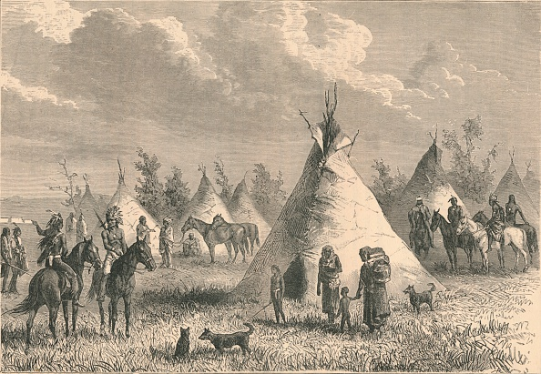 Great Lakes「Village Of Prairie Indians, C19Th Century.」:写真・画像(9)[壁紙.com]
