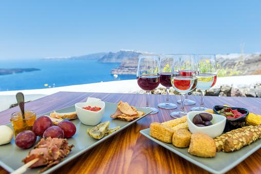 サントリーニ島「牧歌的なギリシャ料理の試食」:スマホ壁紙(12)