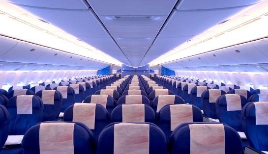 飛行機「飛行機キャビンインテリア」:スマホ壁紙(13)