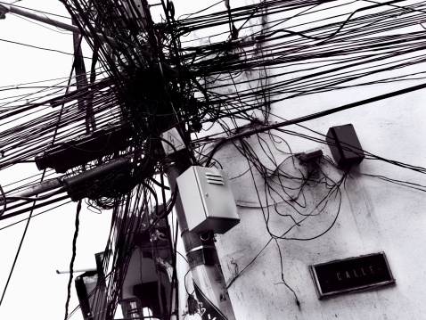 Electricity Pylon「Modern Times - Telephone,  electricity  pole and wires」:スマホ壁紙(10)