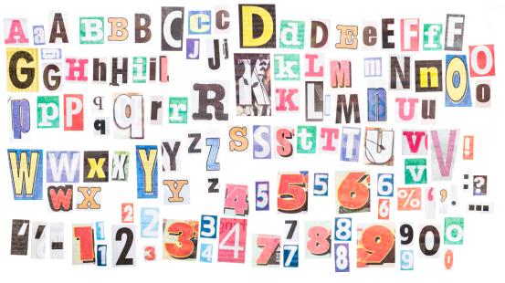 Number「Ransom note alphabets XXXL」:スマホ壁紙(7)