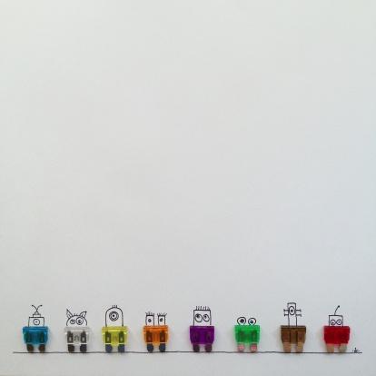 Cartoon「Row of fantasy characters」:スマホ壁紙(6)