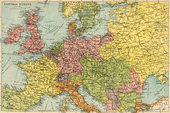 20th Century「Map Of Central Europe」:写真・画像(7)[壁紙.com]