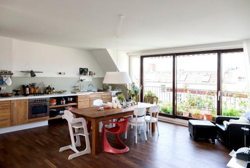 Home Interior「Open plan kitchen」:スマホ壁紙(19)