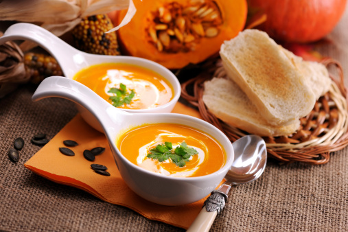 Miniature Pumpkin「Pumpkin soup with creme fraiche」:スマホ壁紙(18)