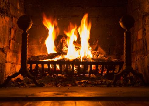 Log「Fireplace」:スマホ壁紙(3)