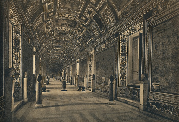 Architectural Feature「Roma - Vatican Palace - Gallery Of Geographical Maps 1910」:写真・画像(17)[壁紙.com]