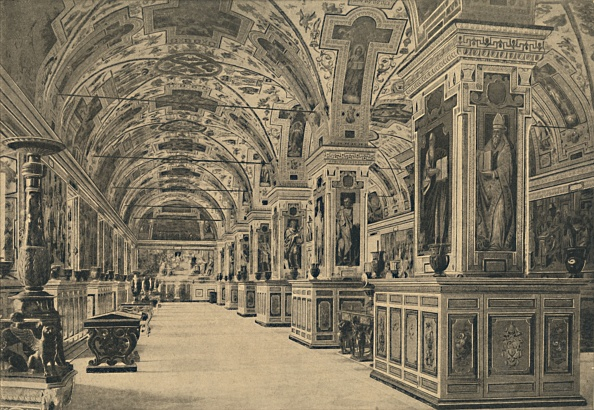 Ceiling「Roma - Vatican - Reading Room Of The Library 1910」:写真・画像(12)[壁紙.com]