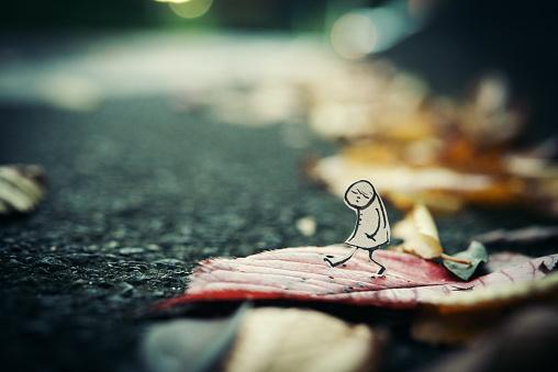 Paper Craft「Autumn walk」:スマホ壁紙(13)