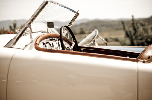 Collector's Car「Aged effect photo of a vintage sport car」:スマホ壁紙(17)