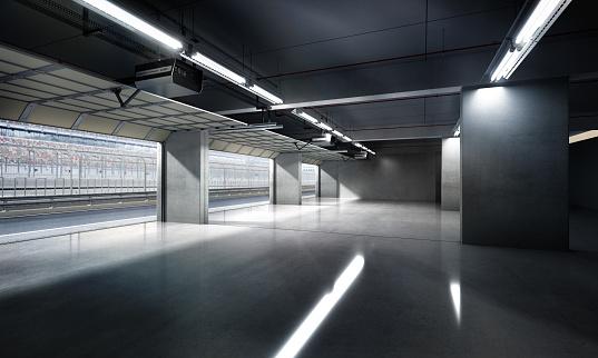 Parking Lot「Empty Pit Garage」:スマホ壁紙(3)