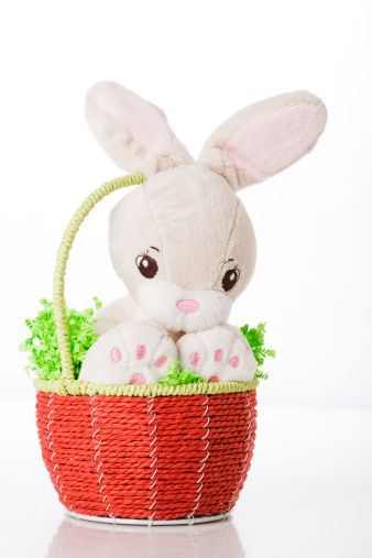 Easter Basket「Stuffed Easter bunny in Easter basket 」:スマホ壁紙(14)