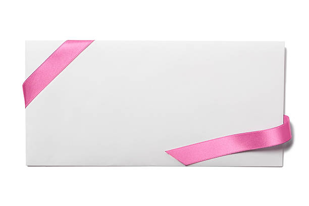 Envelope with Pink Ribbon:スマホ壁紙(壁紙.com)