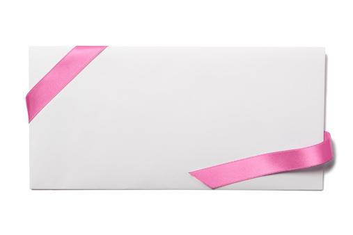 Wedding Invitation「Envelope with Pink Ribbon」:スマホ壁紙(12)