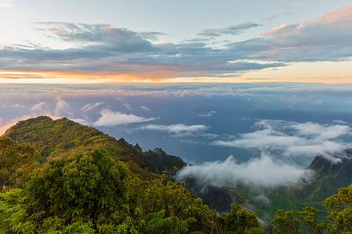 Kalalau Valley「USA, Hawaii, Koke'e State Park, Koke'e State Park, View to Kalalau Valley」:スマホ壁紙(11)