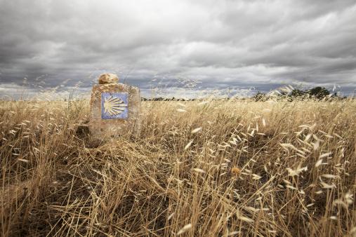 Camino De Santiago「Milestone on Way of Saint James」:スマホ壁紙(1)