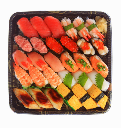 In A Row「Assorted sushi on a plate」:スマホ壁紙(3)