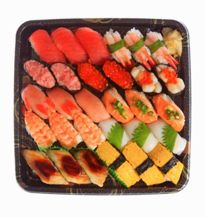 Sushi「Assorted sushi on a plate」:スマホ壁紙(4)