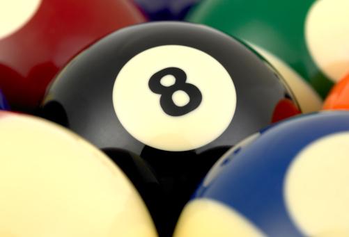 数字の8「Pool balls」:スマホ壁紙(6)