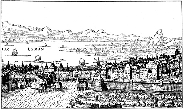 17th Century「Geneva, Switzerland - from engraving by Vischer, 1641」:写真・画像(9)[壁紙.com]