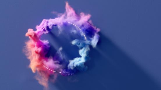 Color Gradient「Circle of smoke」:スマホ壁紙(17)