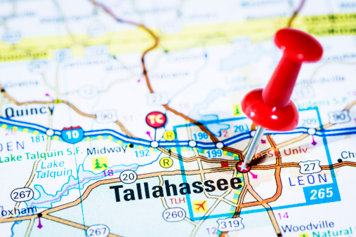 Florida - US State「US capital cities on map series: Tallahassee, Florida, FL」:スマホ壁紙(2)