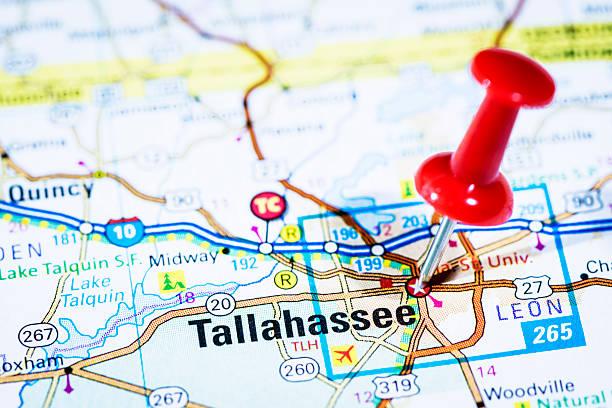US capital cities on map series: Tallahassee, Florida, FL:スマホ壁紙(壁紙.com)