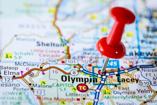 Olympia - Washington State「US capital cities on map series: Olympia, Washington, WA」:スマホ壁紙(6)