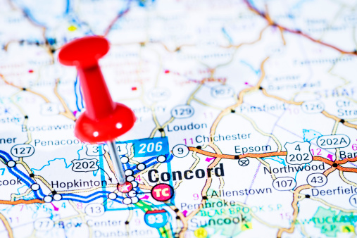 North Carolina - US State「US capital cities on map series: Concord, New Hampshire, NH」:スマホ壁紙(3)