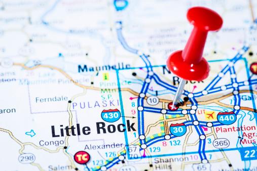 リトルロック「米国首都にマップシリーズ:リトルロック、アーカンソー、アルゼンチン」:スマホ壁紙(16)