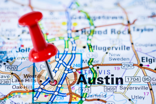 US State Border「US capital cities on map series: Austin, Texas, TX」:スマホ壁紙(17)